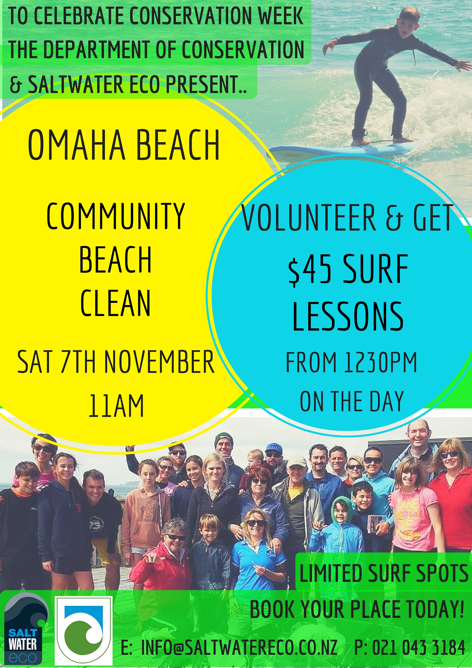 Omaha Community Beach Clean and Surf