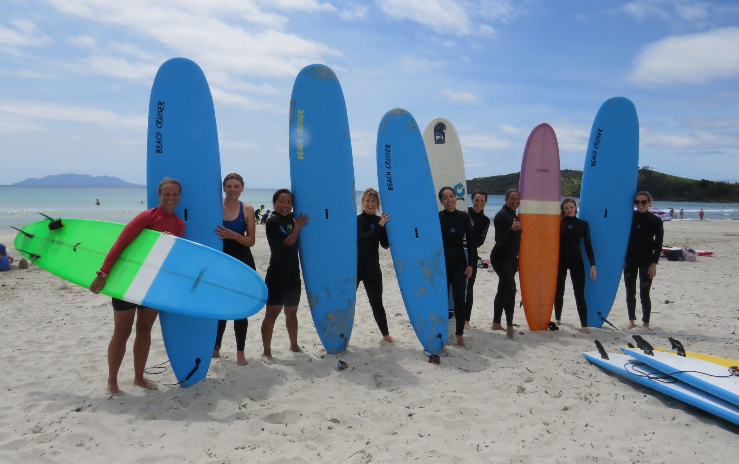 Surfing For Schools & Groups Omaha Orewa Te Arai